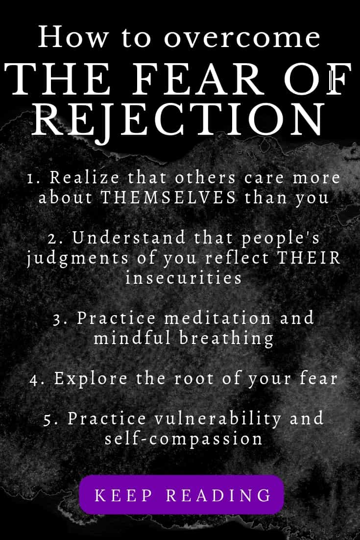 The fear of rejection involves the dread and avoidance of being shamed, judged negatively, abandoned or ostracised from one's peers. Get free guidance now! #rejectionquotes #insecurity #overcomingrejection #selfesteemquotes #confidence