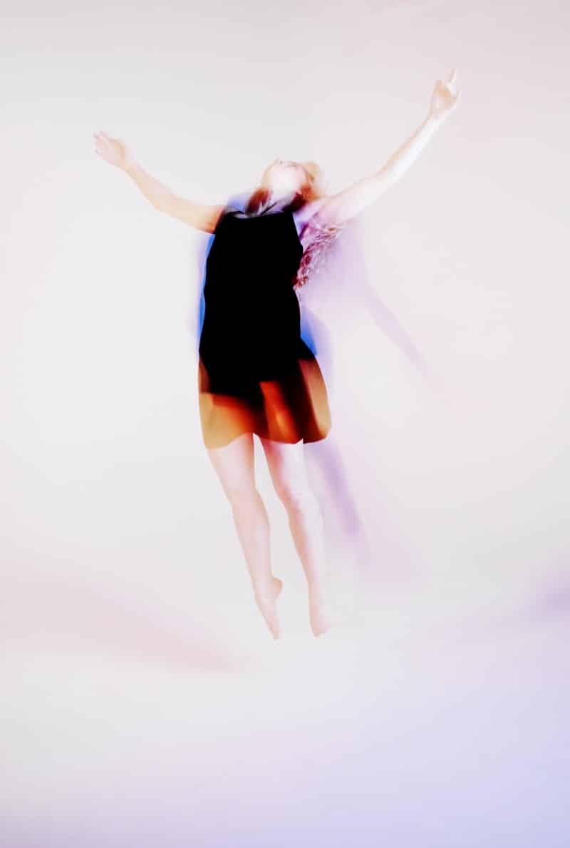 Image of a woman flying during a trance state