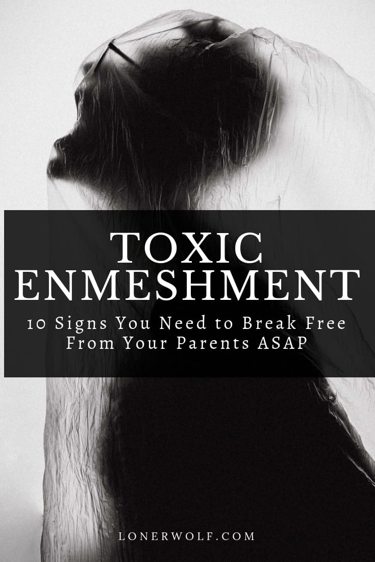 Enmeshment is a psychological term that refers to blurred, weak or absent boundaries between people, often occurring in families and romantic relationships.