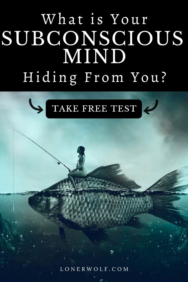Your subconscious mind influences everything from the partner you choose, to the jobs you take on, personas you adopt, addictions you develop, and aspirations you have in life. Take this free subconscious mind test - figure out what\'s hiding deep within you! #subconsciousmind #subconsciousprogramming #unconsciousmind