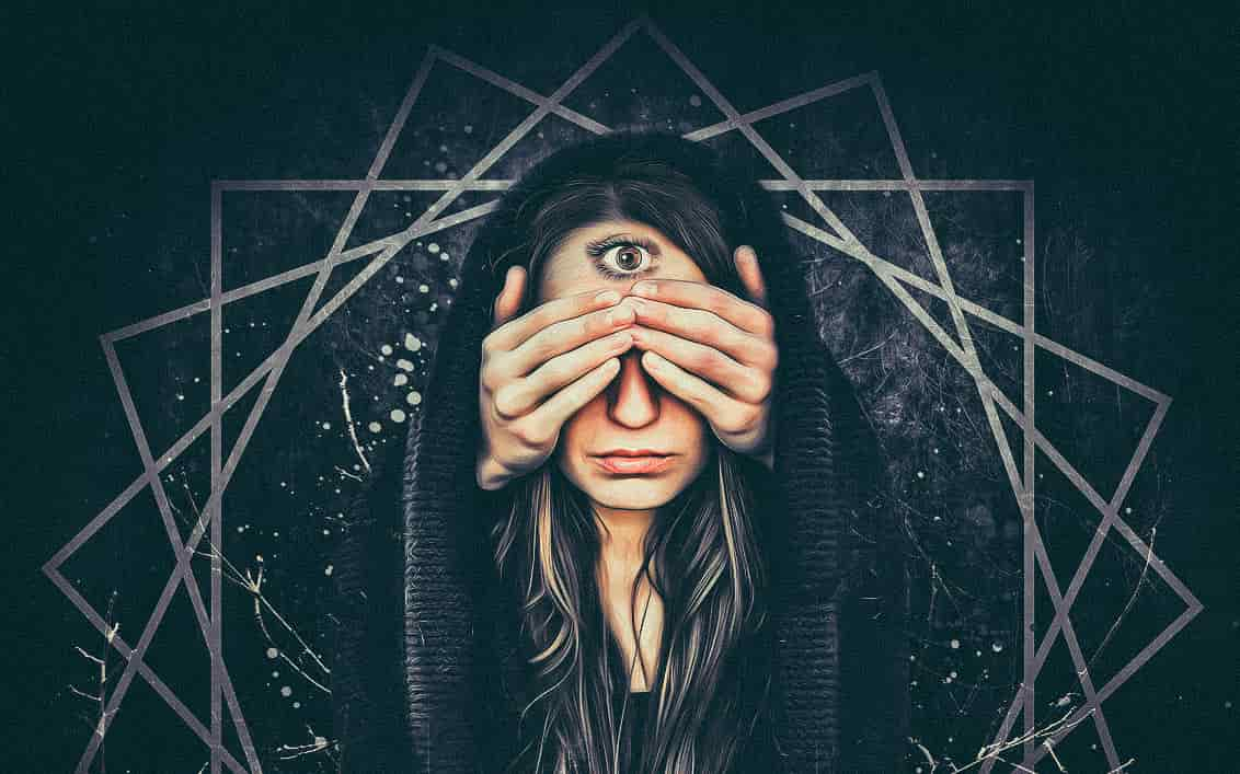 Image of mystical occult archetypal woman