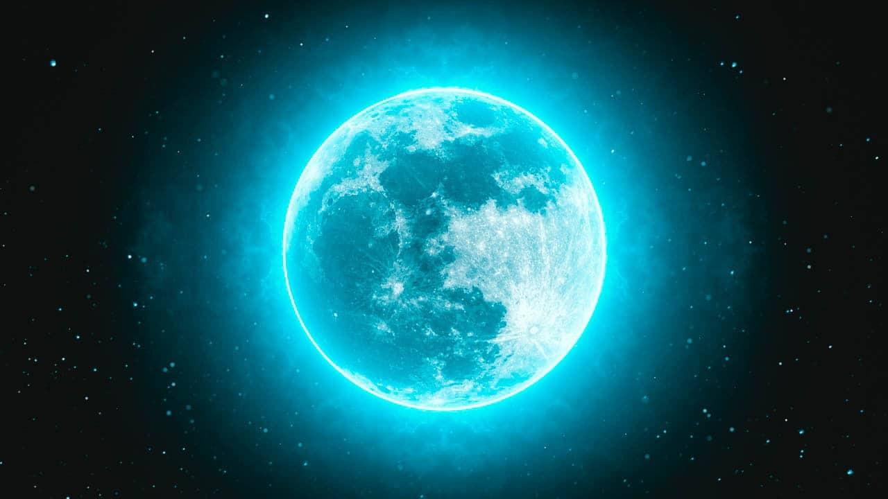 Image of a blue full moon ritual