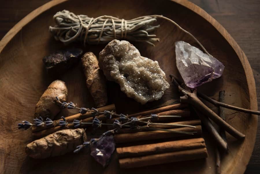 Altar for meditation tools image