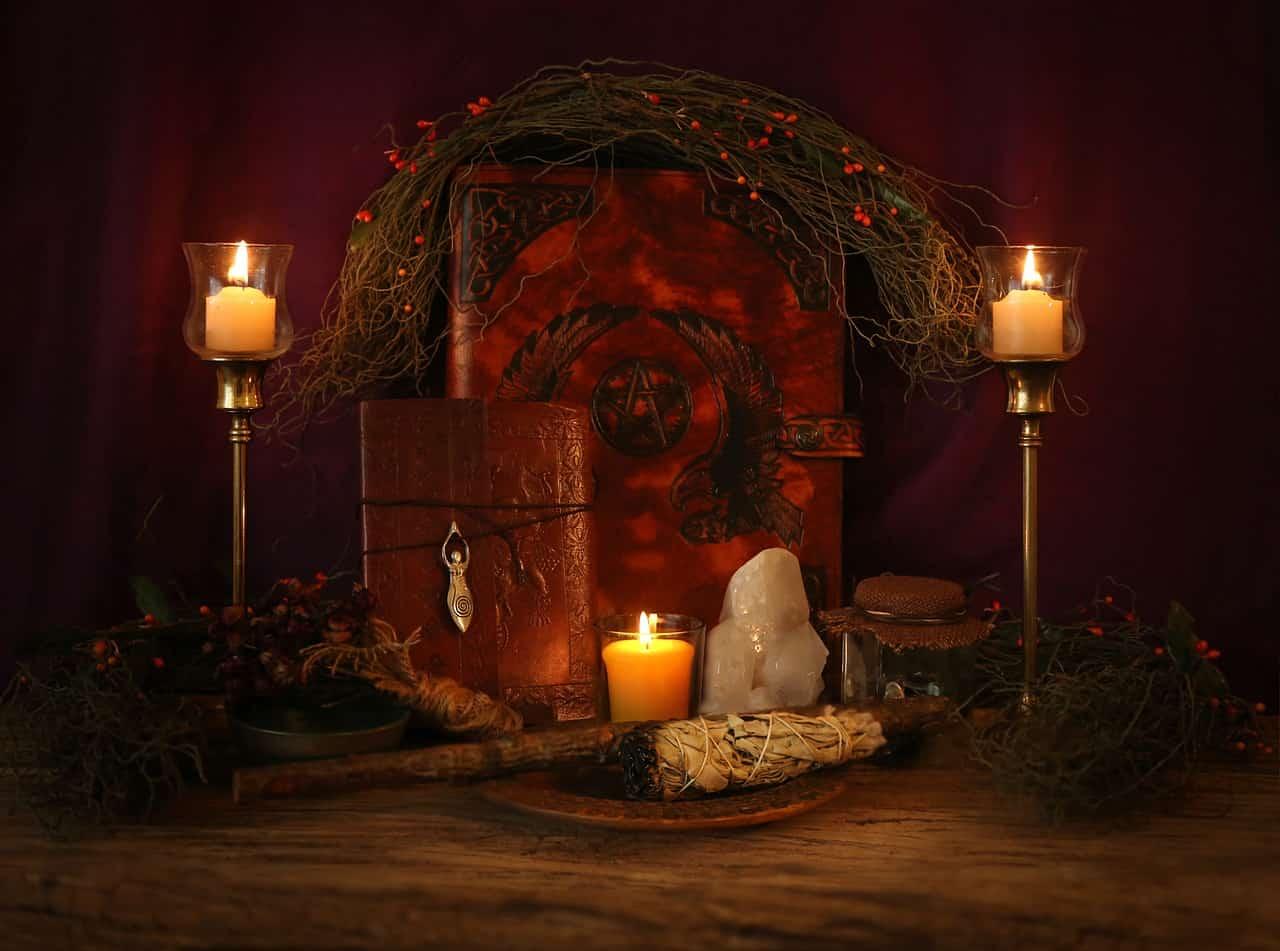 Meditation altar image