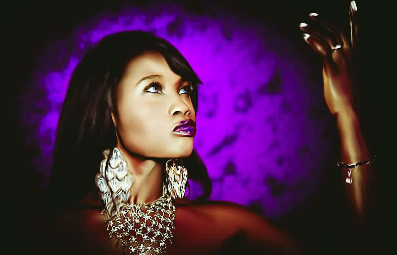 Image of a beautiful spiritual looking rich woman