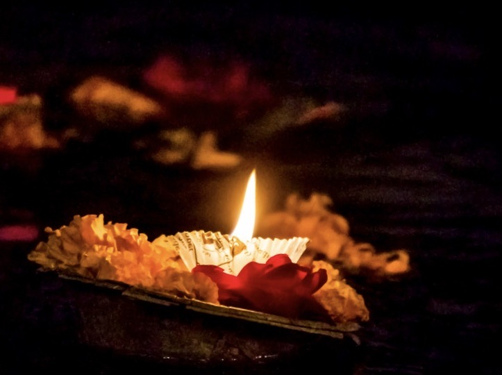 Image of a candle on a spiritual altar