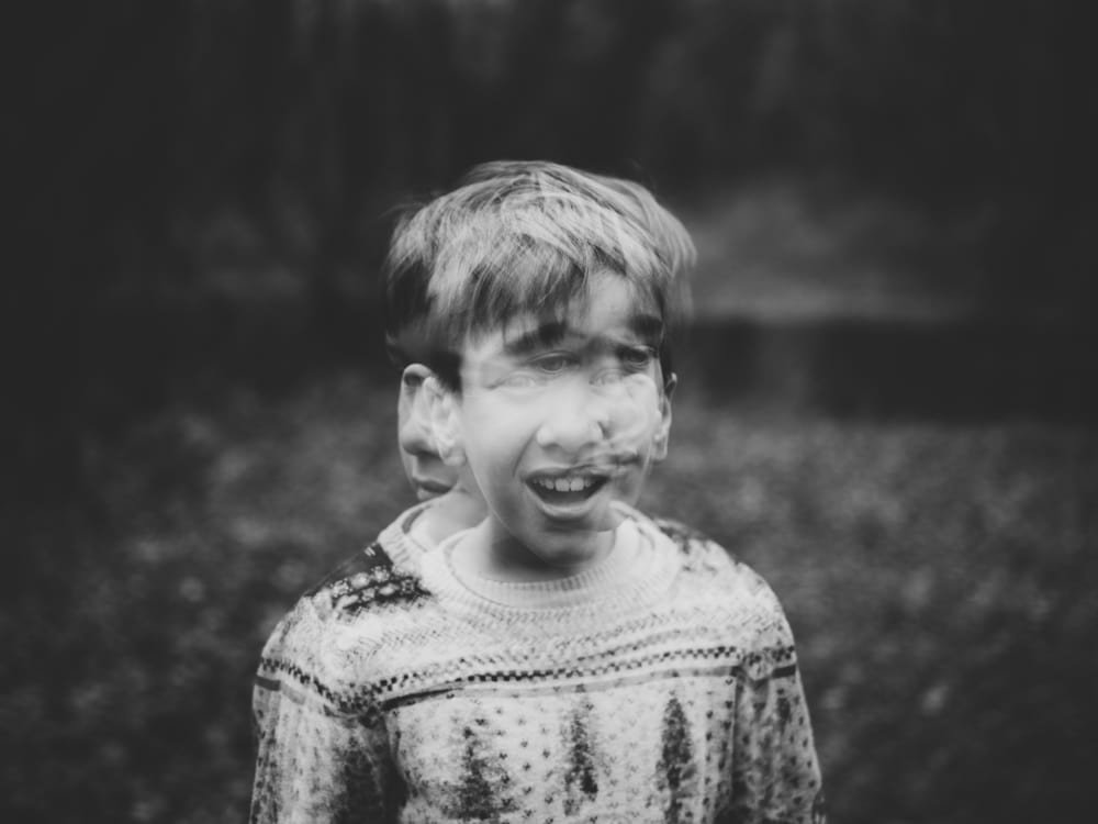 Image of an out-of-focus little boy