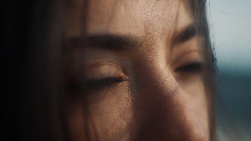 Image of a sad woman's eyes