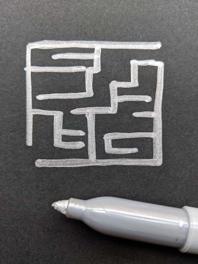 Image of a maze to express and feel nostalgia