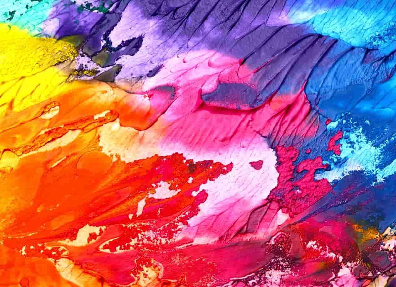 Image of a colorful canvas