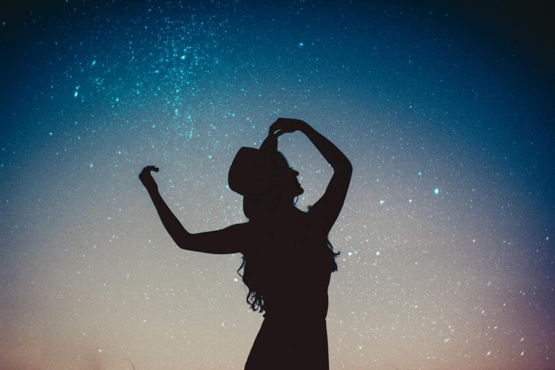 Image of a soul searching woman dancing