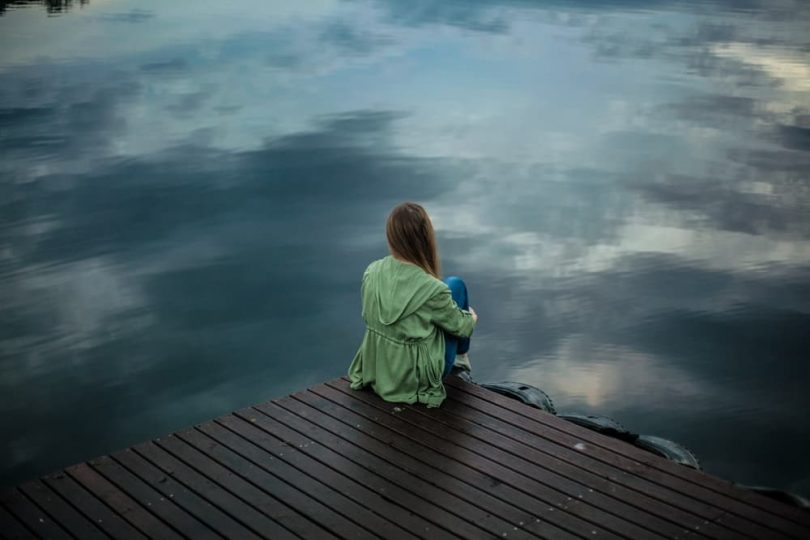 Image of a woman in solitude soul searching