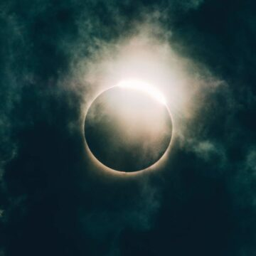 Image of an eclipse representing the spiritual emergency