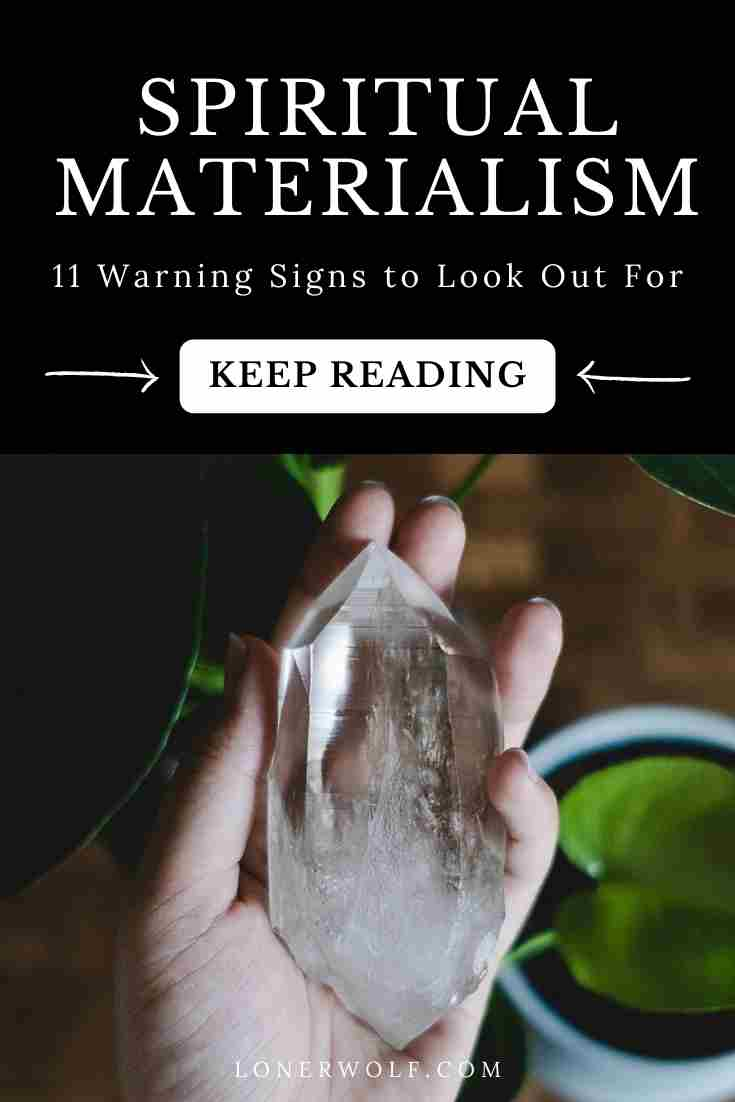 Spiritual materialism is what happens when we use spiritual concepts, practices, and tools to reinforce the ego (false self). Have you been sucked in?  #spiritualmaterialism #spiritualego #spiritualbypassing