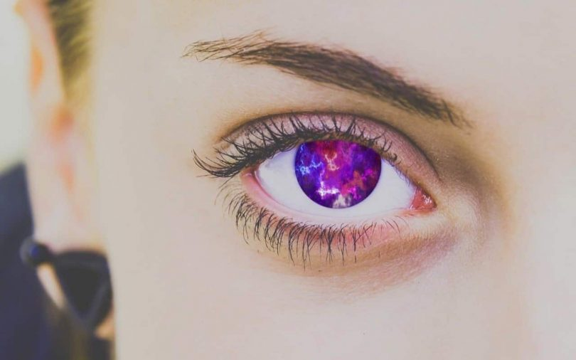 Image of a colorful woman's eye symbolizing spiritual narcissism