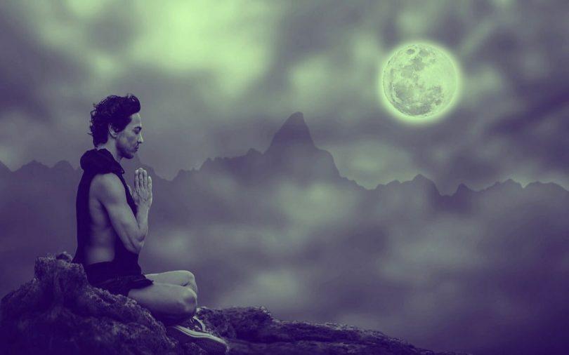 Image of a man meditating