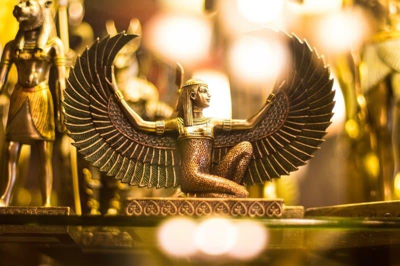 Image of a golden goddess divine feminine statue