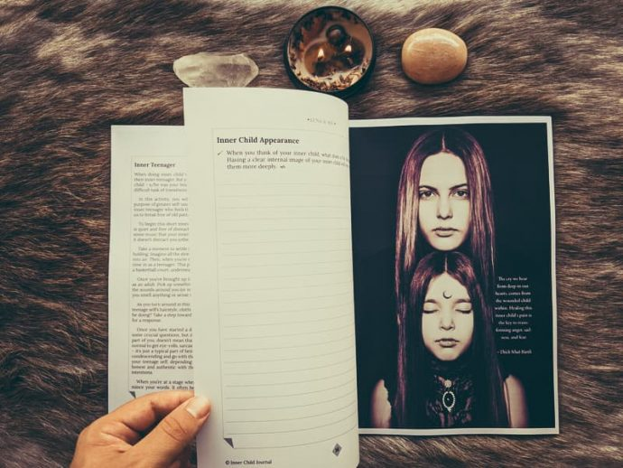 Inner child journal by Luna and Sol preview