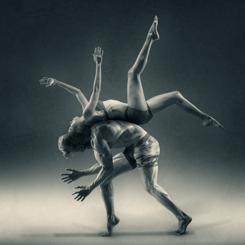 Image of a man and woman dancing symbolic of the anima and animus