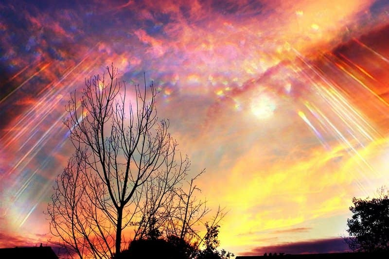 Image of a mystical colorful sky