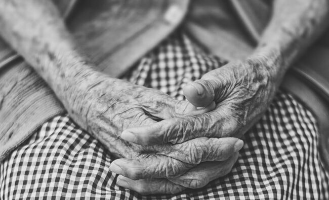 Image of wise old hands