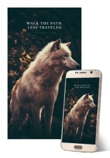 image of wolf screen saver for desktop and mobile