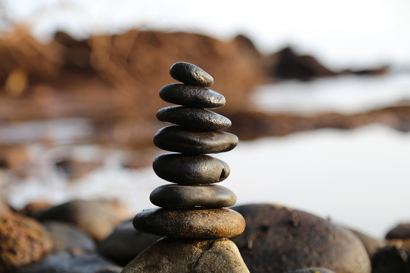 Image of a pile of zen rocks