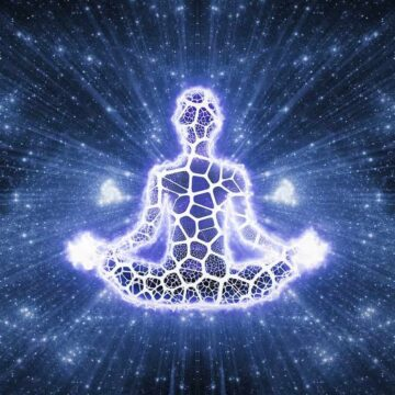Image of a meditating person practicing spiritual integration