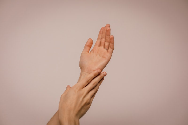 Image of a person's hands