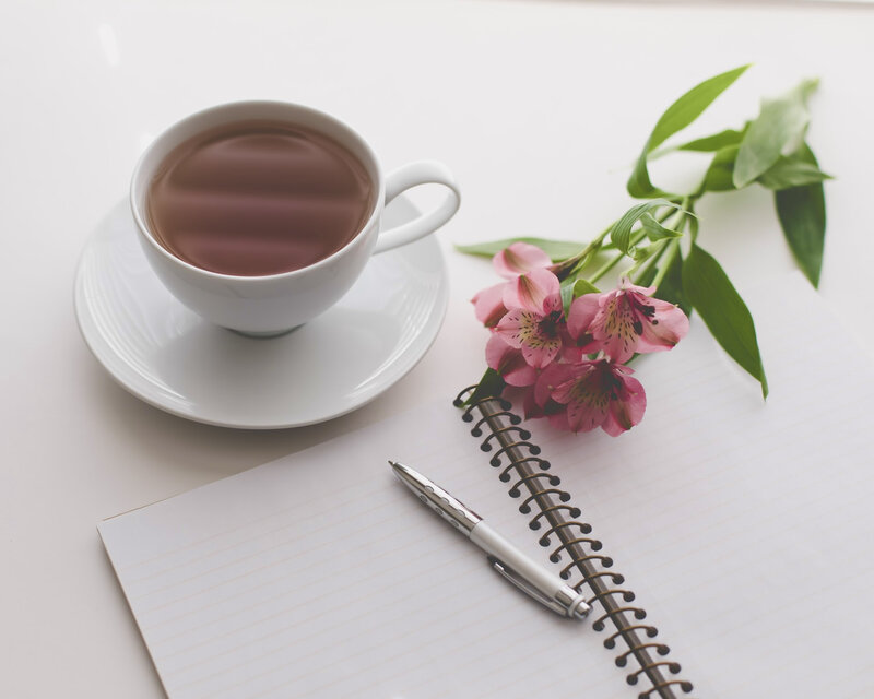 Image of a blank journal for how to journal