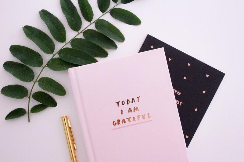 Image of a gratitude journal