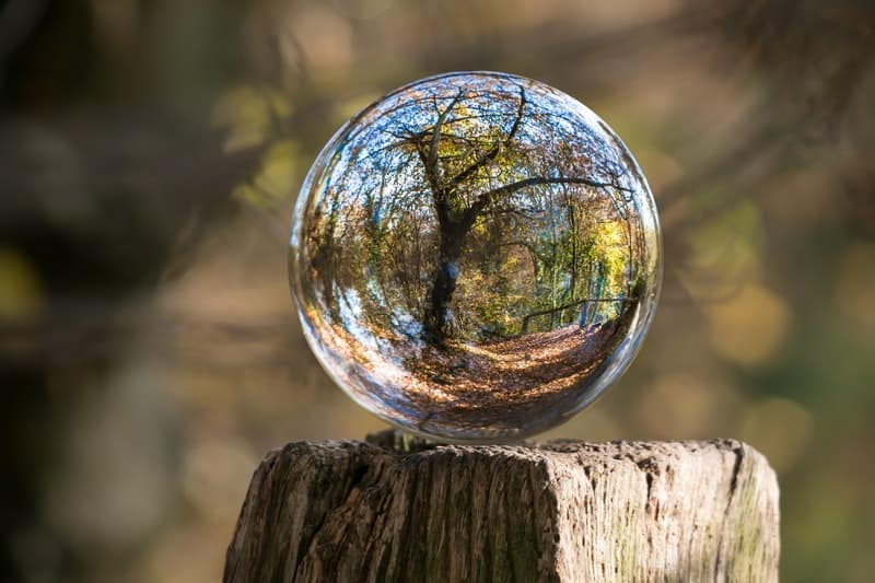 Image of a glass ball