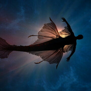 Image of a mermaid in the water during dream work