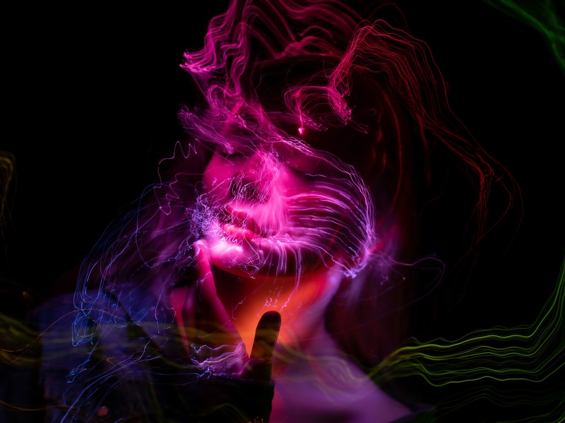 Image of a woman experiencing a kundalini altered states of consciousness